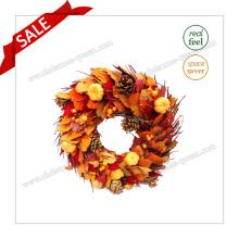 D36-44cm Feuilles préservées Fleur séchée Décoration de mariage en Halloween Artisanat