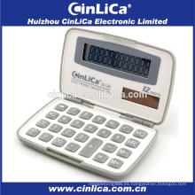 JS-12H calculadora promocional de viaje de 12 dígitos con cubierta de plástico