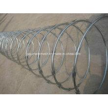 Galvanized Single Coiled Razor Barbed Wire