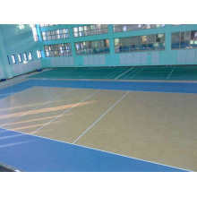 Внутренний / наружный ПВХ спортивный пол для баскетбола Деревянный узор