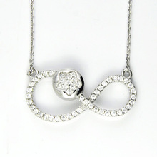 925 Sterling Silber Micro Pave Anhänger (B-5928)