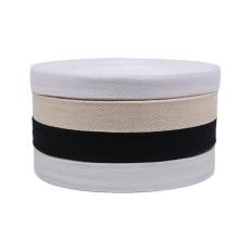 TC501 nature white Herringbone cotton label tape belt
