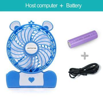"4 ""beweglicher Miniventilator mit USB / Batterie / LED (USMN-DC02)"