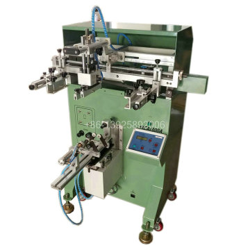 Round bottle screen printing machine for bottle cups