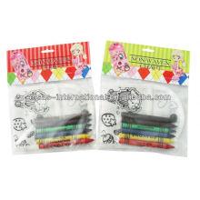 Materiales de pintura DIY para hacer monederos crayon para colorear bolsa no tejida