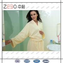 Elegantes Design Bequemes Cut Samt Stoff Baumwoll Bademäntel für Frauen