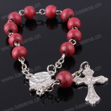 Hot Sale 6mm Red Fragrant Wood Beads Religious Rosary Bracelet