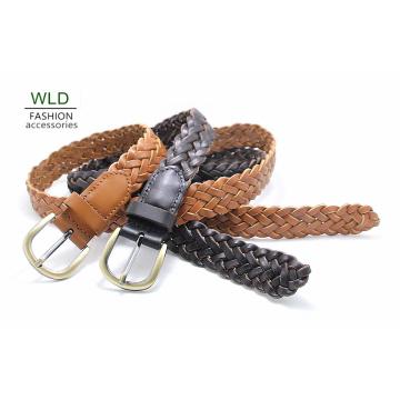 Fashion Basic Braided Genuine Top Leather Lady Belt Lky1179