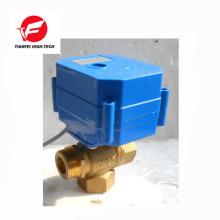 vertical type female thread DN15 DN20 brass CWX-60P 6nm 3 way motorized valve