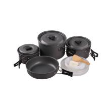 Outdoor Alloy Aluminum Camping Cookware Frigideira panela de cozinha Set
