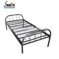 Hot selling dorm metal single bed with 2 set package for workers
