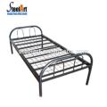 Venda quente dormitório de metal cama de solteiro com 2 set pacote para os trabalhadores