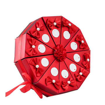 Cake Shape Wedding Candy Box for Feast