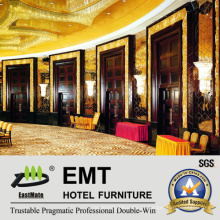 Painel de parede interior de mobiliário moderno da área pública do hotel (EMT-F1205)