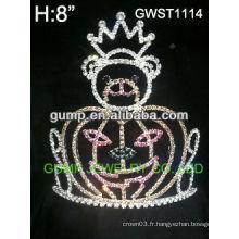 Citrine de citrouille de vacances en argent sterling personnalisé en couronne en strass -GWST1114