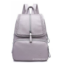 New design classic fashion beautiful casual vintage large capacity girls women's pu leather travel shoulder backpack bag