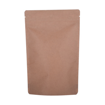 Bolsa transparente compostable con cremallera compostable