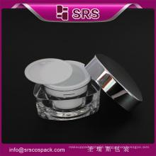 luxury 30g 50g cute cosmetic jar , empty triangle acrylic jar