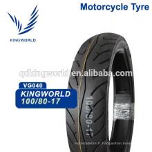 Moto Tubeless Tire 100 / 90-17 100 / 90-18, Pneu moto sans chambre à air 90 / 90-12 80 / 90-17 Qualité Choix