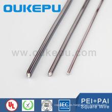 Transformadores de poliamida-imida 6.0 * 6,0 mm de precio directo de fábrica cuadrada de alambre magnético