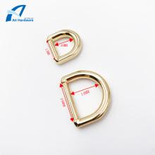 Fivela decorativa de saco em anel de metal D para bolsa