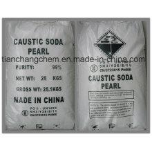 Горячая продажа 99%, 96%, 98% каустической соды (хлопья, жемчуг, твердое вещество) Каустическая сода