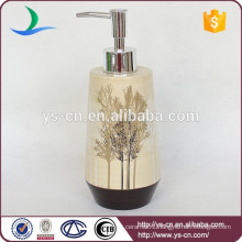 YSb40036-01-ld Ceramic bathroom accessories soap dispenser with trees design