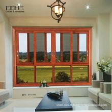 Nouvelle conception en alliage d'aluminium fenêtre coulissante vers le bas