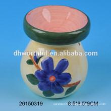 Home decoración quemador de aceite de cerámica con la figura de la flor