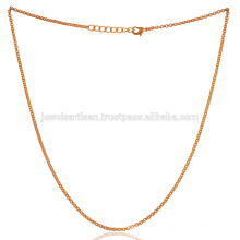 18 Inch Gold Vermeil Plain Brass Chain For all Time Wear