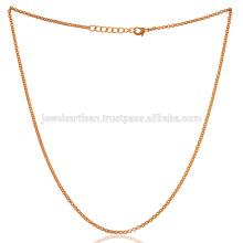 18 дюймов золото vermeil Латунь цепи за все время носить