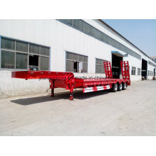 40-60 Ton Low Flatbed Semi Trailer 13meters Truck Trailer Trucks