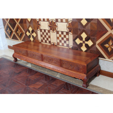 Authentic Burma Padauk TV Stand with Ming Simple Style