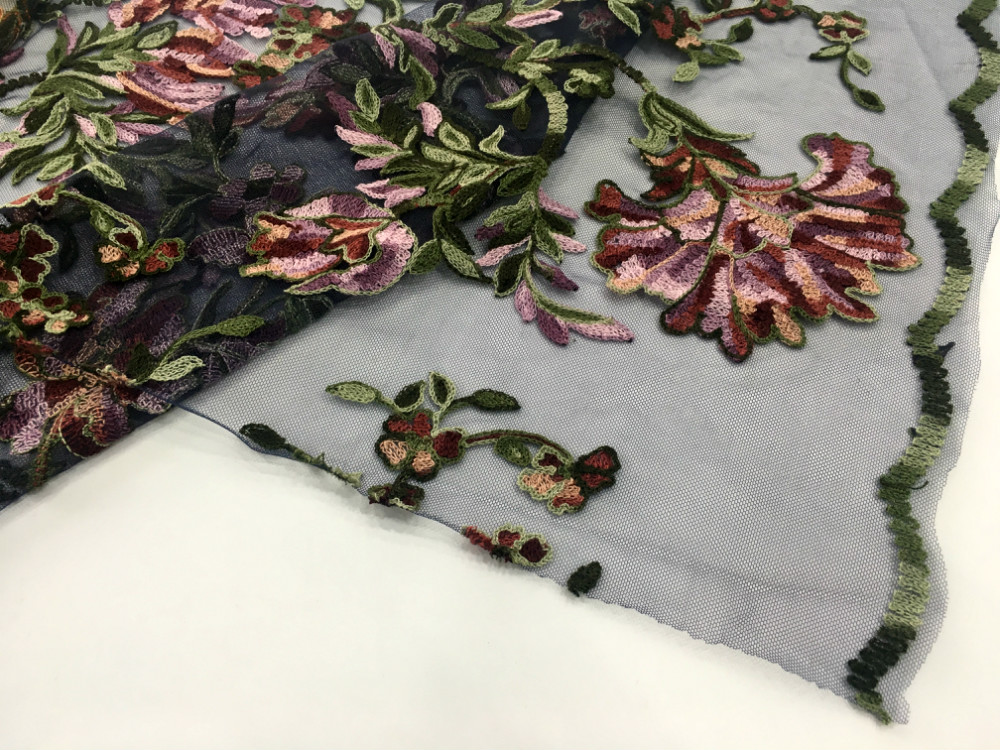 Rayon Yarn Embroidery Fabric