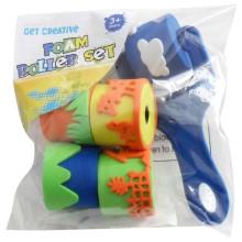 niños eva juguete sello de tinta de rodillo de goma