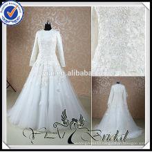 RSW527 Long Sleeve Lace Islamic Wedding Dress 2014