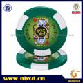 Puces de Poker de Clavardage de Casino King's 14G à 2 tons avec des autocollants personnalisés