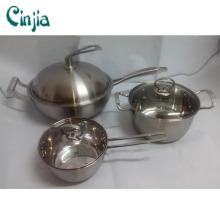 Utensilios de cocina de acero inoxidable 6PCS de alta calidad