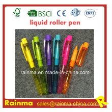 Plastic Liquid Roller Pen with Nice Print Color