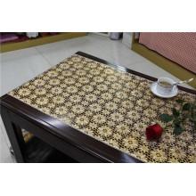 Элегантный 50см Ширина золото ПВХ кружева скатерть в рулоне
