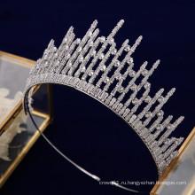 Новый модный высококачественный головной убор принцессы AAAzircon CZ, свадебные диадемы, корона