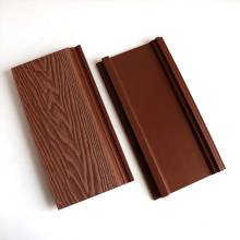 Wholesale Interior Exterior Wall Decoration Panel 3D Wood Grain WPC Wall Cladding