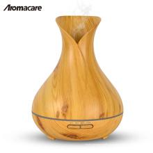 Aromacare Vase Style Design Wood Grain Aroma Difusor 400ml Aceite esencial Difusor