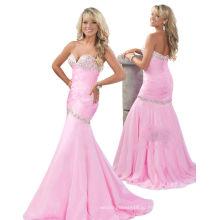 Светло-розовый Фиштейл милая pageant платье вечернее платье со стразами ТР12-01