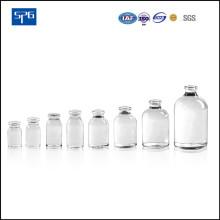 Flacon d'injection moulé transparent pour produits pharmaceutiques