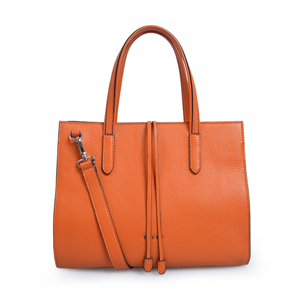women grey color soft leather casual tote composite bag