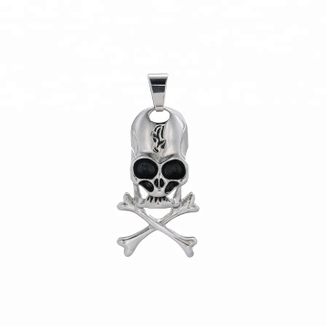 pendant-229 xuping jewelry fashion  black gun color cross skull head pendant