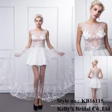 Fabrikpreis wulst späteste reizvolles sleeveless weißes reizvolles Hochzeitskleid
