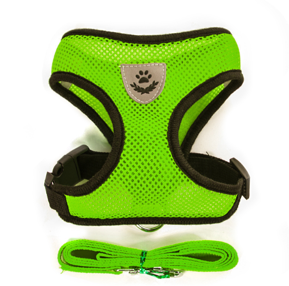 Breathable Reflective Dog Harness With Leashes