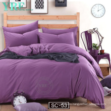 Brand Stock Cheap Price Microfiber Reversible Solid Color Bedding Set